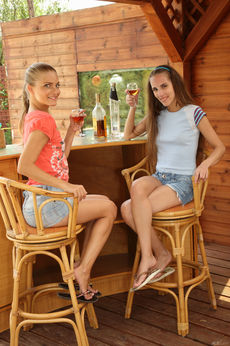 Cayenne And Tina Blade In Liquored Lesbos - Picture 1